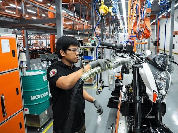 大手財閥アヤラは二輪車生産に参入した(ラグナ州の工場)
