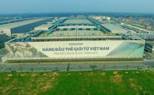 サムスン電子の工場(ベトナム・ハノイ近郊)