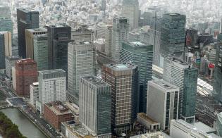 都心のオフィス街(東京都千代田区)