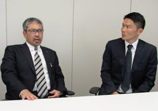 小宮山氏(左)と投球術、打者との駆け引き、理にかなった体の使い方について掘り下げた