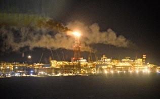 ロシア北部のガス大手ノバテクのLNG生産設備=共同
