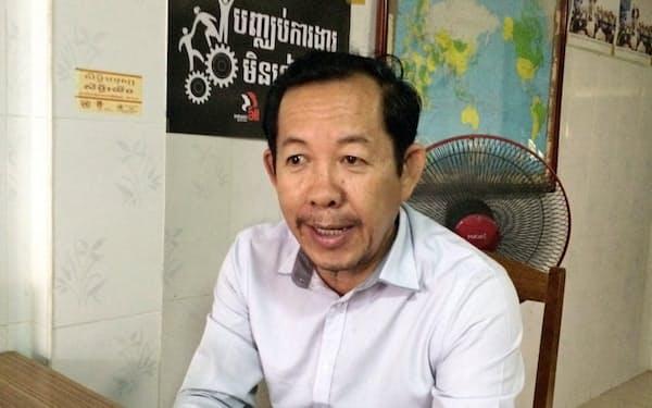 カンボジアの国家選挙委員会の元委員のロン・チュウン氏(プノンペン)