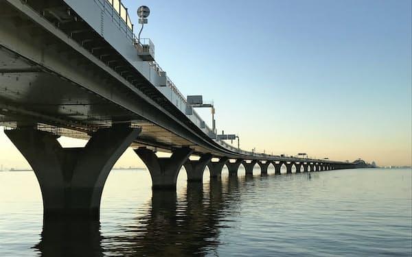 東京湾アクアラインは東京湾両岸のヒトやモノをつなぐ