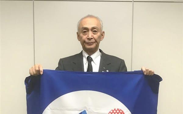 長岡市民スポーツ応援団の会長を務める市村輝男氏