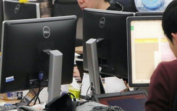 アプリ開発に注力するイグニスの社員(東京都渋谷区)