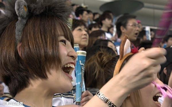 16年から選手やファンのアップ映像を増やした=日本ハム提供