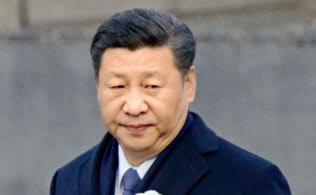 「南京大虐殺国家追悼式典」で演説を避けた習近平主席(13日、中国江蘇省南京市)=共同