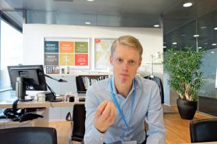 デンマーク電力最大手アーステッドのヘンリク・ポールセン最高経営責任者(コペンハーゲンの本社で)