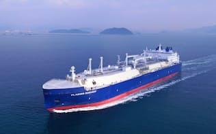 商船三井の砕氷LNG運搬船