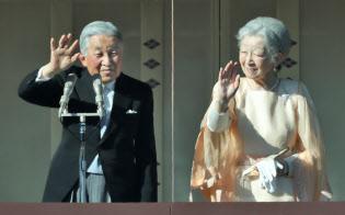 天皇、皇后両陛下(12月23日、皇居)
