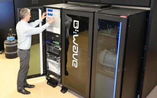 Dウエーブ社の量子コンピューター(カナダ・バンクーバー)