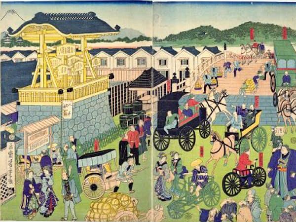「東京日本橋風景」=国立国会図書館蔵