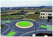 環状交差点のイメージ=松前町提供