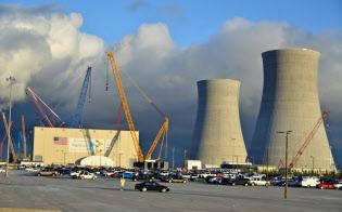 米電力会社サザン・カンパニーは、米ウエスチングハウスが建設を担う原発2基の工事を続けている(2017年12月9日、ジョージア州)