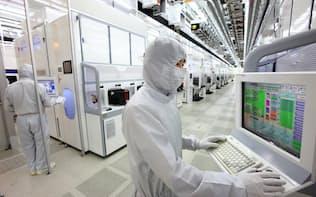 ソウル郊外のサムスン電子のメモリー工場
