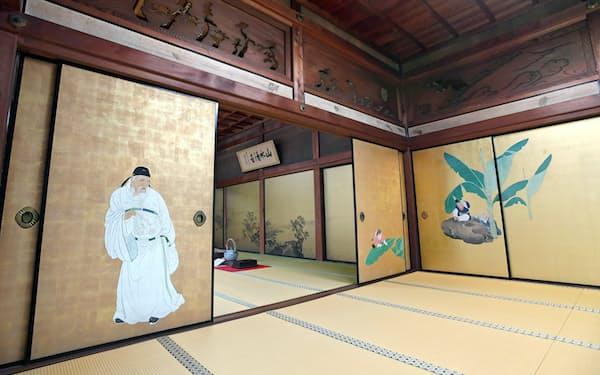 全13室の襖絵や障壁画は、それぞれが仏教の世界観に根ざしている