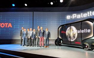 トヨタのコンセプト車の提携先には5社が名を連ねた(8日、ラスベガス)