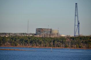 原子炉の建設中止が決まったVCサマー原発(10日、米サウスカロライナ州)