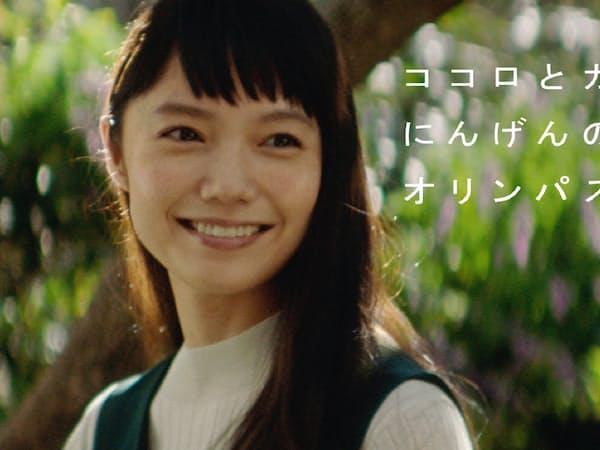 オリンパスは宮崎あおいさんの企業CMを増やしている