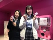 女子高校生の声を商品開発に生かす(16日、東京都渋谷区)