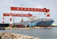 今治造船のドック(香川県丸亀市)
