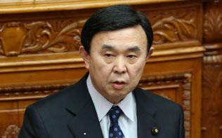 参院本会議で質問する自民党の吉田博美氏(2014年1月)