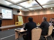 中部電力は、新たな事業を一緒に展開するベンチャーの最終審査会を開いた(1月18日、名古屋市)