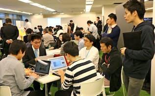 データ分析に関心を持つ若者は多い(パーソルキャリアが2017年12月に開いたイベント)