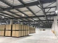 「群馬配送センター」(群馬県館林市)はアサヒ飲料の物流施設としては最大規模となる