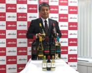 代野照幸社長は「ワイン市場は安定成長でき潜在性がある」と強調した(19日、東京・千代田)