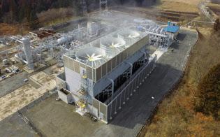 出光興産の子会社が2017年3月に稼働させた地熱発電所(大分県九重町)