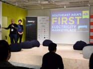 「ザブリッジ」が18~20日まで開いたフィンテックイベントでは関連企業のピッチイベントが開かれた(20日、東京・渋谷)