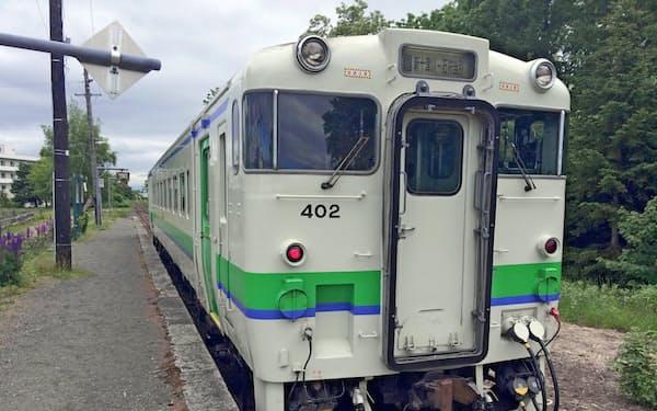 新十津川駅に停車中の車両