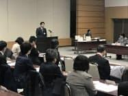 ストーカー対策の会議で各都道府県警の担当者や医療関係者が集まった(25日、東京・霞が関)