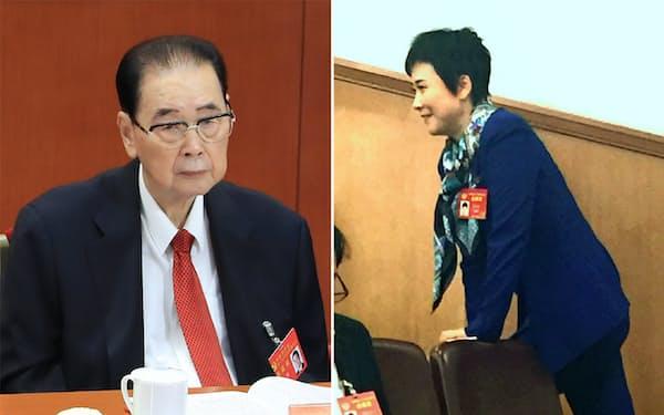 李鵬元首相(左)の娘で電力業界の女帝と言われた李小琳氏(右)も退場した