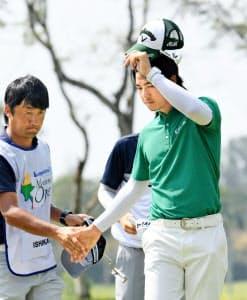6季ぶりの日本ツアー参戦となった石川。2戦目は予選落ちに終わった=共同
