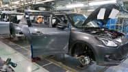 相良工場(牧之原市)では国内と輸出向けの小型車生産が好調だ