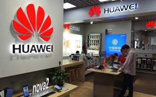 中国のファーウェイはまたも米国本格進出の道を絶たれた…(広東省広州市内の販売店)