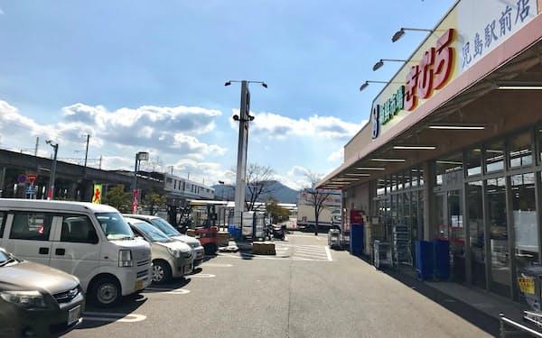 香川地盤の「生鮮市場きむら」は岡山県でも店舗を拡大(倉敷市の児島駅前店)
