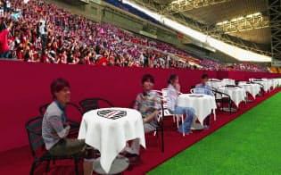 新設されるテーブル席のイメージ=ヴィッセル神戸提供