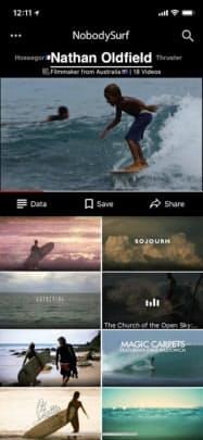 リブルーはサーフィン動画配信サービス「ノーバディサーフ」を提供している