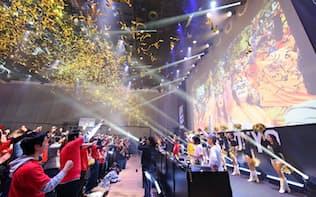 東京・恵比寿での「次世代型ライブビューイング」のチケットは、発売開始からわずか3時間で売り切れた=Bリーグ提供