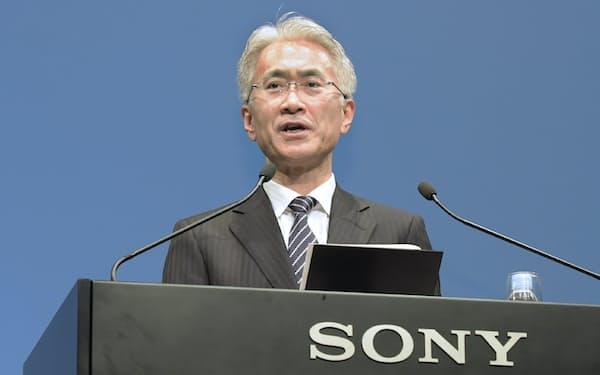 社長就任が決まったソニーの吉田憲一郎副社長(2日午後、東京都港区)