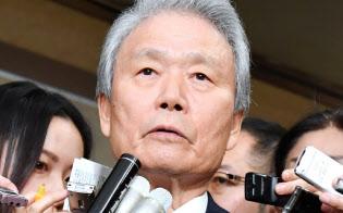 榊原会長をはじめ経団連は「うみを出し切る」と強調したが…(2017年11月29日、財務省)