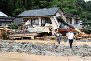 大きな被害を出した九州北部豪雨(2017年7月6日、福岡県朝倉市)