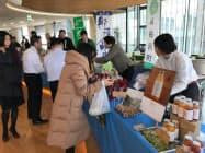 栃木銀行が協力し都心の行員向け食堂で地元産品を売り込んだ(9日、東京・中央の新生銀行本店)