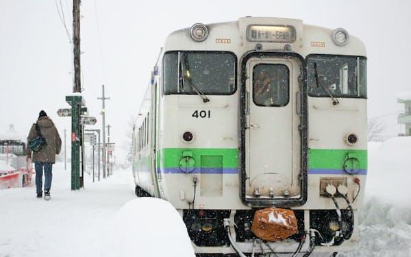 雪対策の経費もかさむ(JR北海道の札沼線)