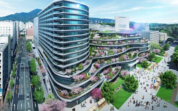 熊本市中心部に建設中の「ザ・熊本ガーデンズ」では、販売初日に全156戸が売り切れた(イメージ)