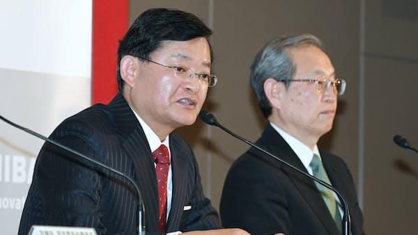 東芝、会長兼CEOに車谷氏の就任発表