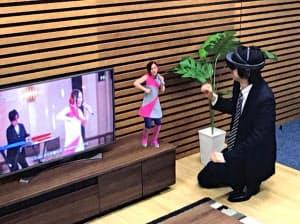 歌手の3Dモデルも出現する
